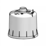 Верхняя часть парового цилиндра Hygromatik CY17 DN 25/12, пустая